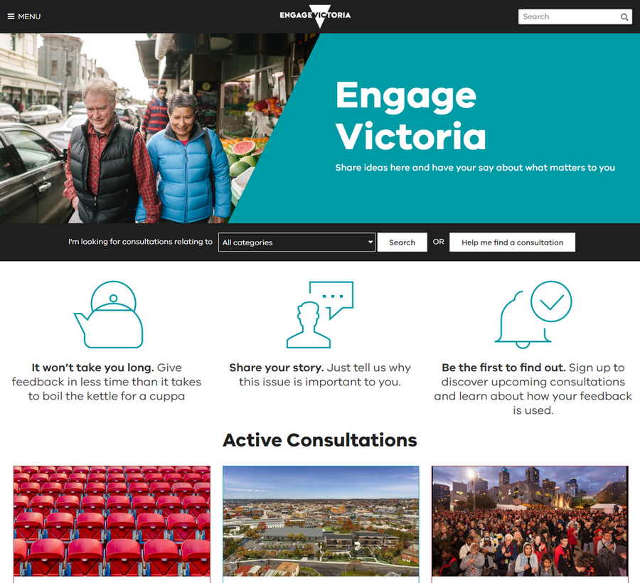 Engage Victoria website