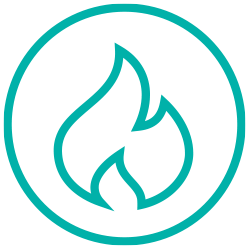 Fire and emergency icon