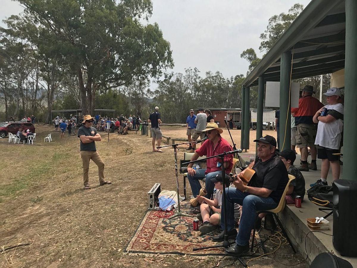 Jo Andrews family bbq post bushfire at Sarsfield