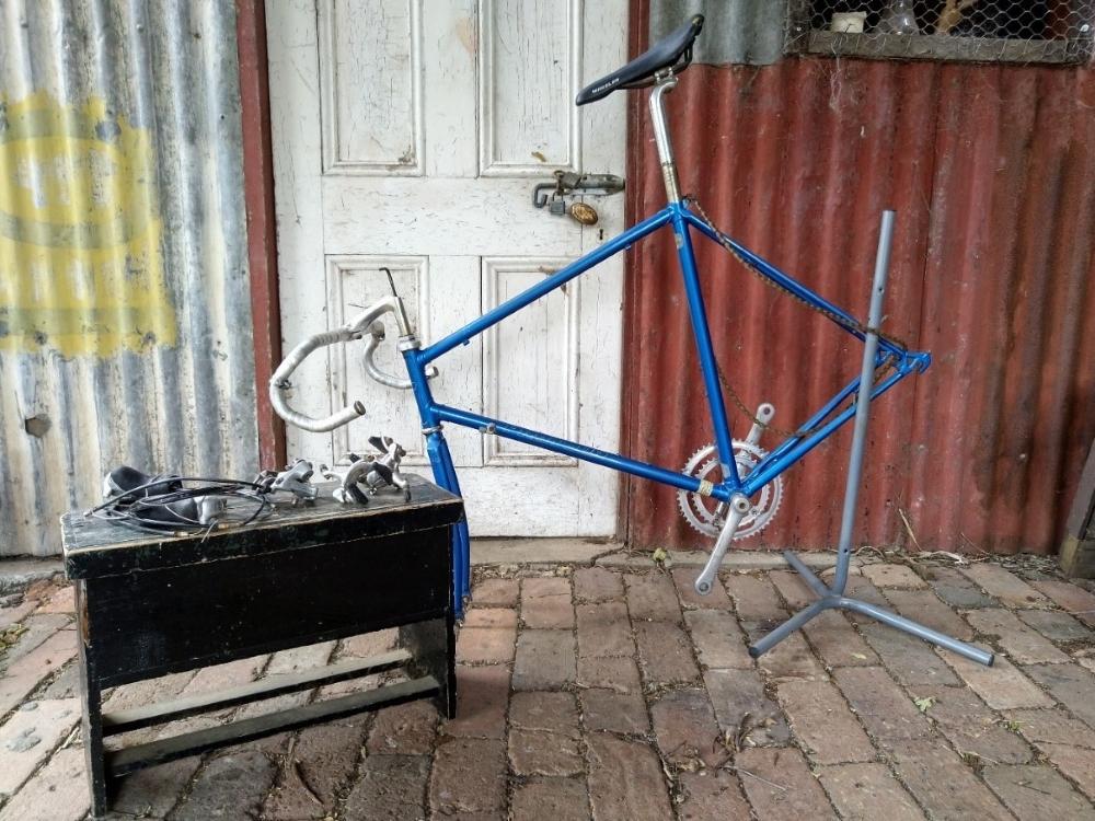 Thomas Kirby's bike in state of repair