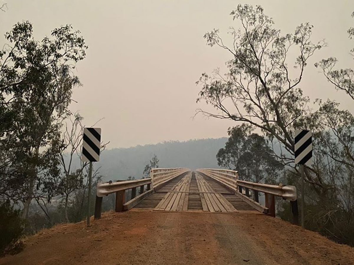 McKillops Bridge in the Bendoc and Bombala area of East Gippsland safe after the fire